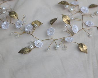 Original Bridal Hair Vine Bridal Wreath Bridal Tiara Diadem Pearls and Crystals Bridal Wedding Headband  Hairpiece