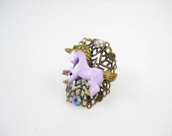 Kawaii vintage Unicorn ring