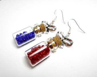 Geek - mana and health potion vials earrings