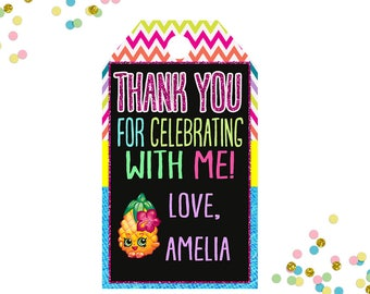 Shopkins Party Favors Tags - Shopkins Pool Party - Thank you tags