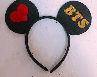 BTS Kpop Mouse-Ear Headband