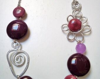 aluminum Flower necklace