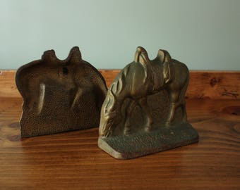 Grazing Horse Bookend