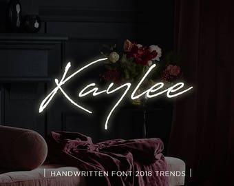 Kaylee digital font download, Calligraphy font, Digital font, Wedding font, Handwritten font, Download digital font, Swirly font, Script