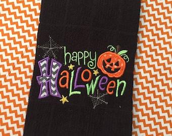 Festive Halloween Dish Towel