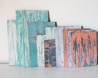 Hand-painted chalk paint vintage wood Panels