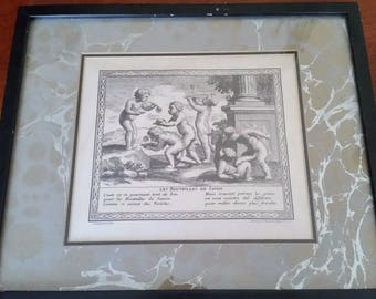 Antique Claudine Bouzonnet Stella 1636-1697 Engraved Tapestry Prints - lot of 4
