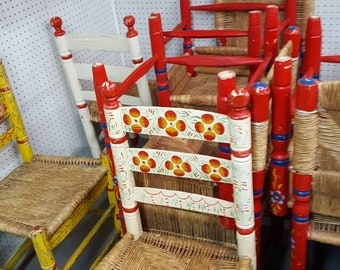 1 Adult Hand Painted Mexican Chair. Local (Pick-Up Only)