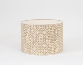 Nila Fawn Lampshade - 20cm Diameter - Fawn Lampshade - Beige Lamp Shade - Geometric Lampshade