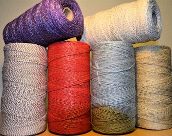 British Made Baker's Sparkle Christmas/Gift Wrapping/Crafting Twine 2Ply 2mm