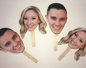 Big Head on Stick - Photo Prop - Photo Booth Prop - Bachelorette Party  Big Head - Funny Fiance Photo - Bridal Shower Game