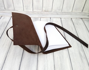 Notepad - Leather notepad - Handmade notepad -Notepad A-5 - Personalization-Gift-Leather -Sketchpad