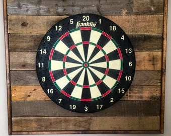 Reclaimed Dart Board Backing - Pallet Dart Backboard - Mancave Wood Dart Backing - Dartboard Surround