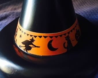 1960's Halloween costume witch hat witches vintage