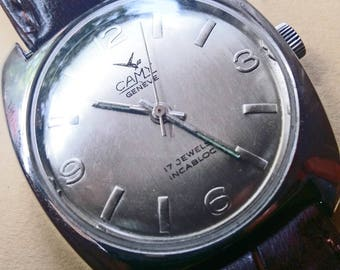 CAMY - 17 Jewels - INCABLOC - 1950's - Vintage Watch - Swiss Made, Shock Proof