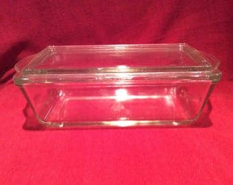 Pyrex JAJ Clear Glass Rectangular Casserole dish circa 1950