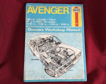 Haynes Owners Workshop Manual Avenger Hillman Chrysler Talbot #037