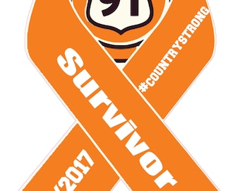 Route 91 Survivor, Date, #CountryStrong on Ribbon Decal different sizes