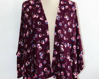 Kimono jacket with flowers