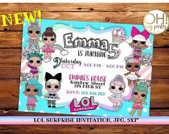 LOL surprise birthday invitation, lol surprise party, lol surprise birthday, lol surprise invitation, lol surprise birthday,lol surprise,lol