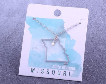 Customizable! State of Mine: Missouri Silver Necklace - Great Gift!