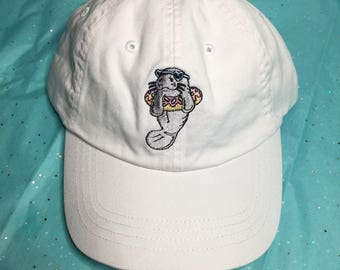 White manatee hat