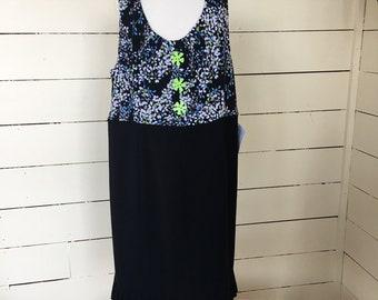 Size 16 plus upcycled dress.