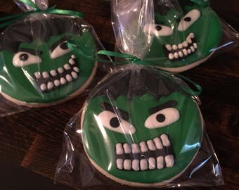 Incredible Hulk cookies