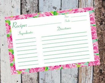Lilly Pulitzer Recipe Cards