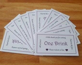 Wedding drink voucher x 50