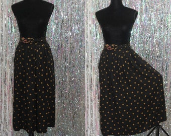 80's Norton McNaughton Black & Gold Decorative Skirt (8)