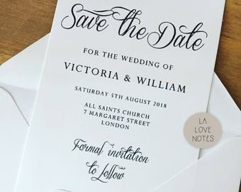 Printable save the date card - 2 sizes