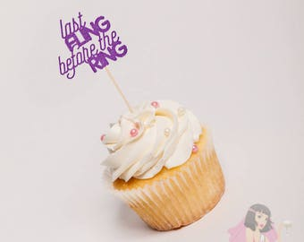 Hens Night Bachelorette Cupcake Toppers Last Fling Purple