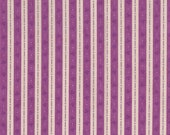 Clearance, Quilting Fabric, Katherine Ann, Ticking, Purple, Patrick Lose