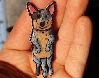 Blue Heeler Magnet for car locker or fridge: Great gift for australian cattle dog lovers