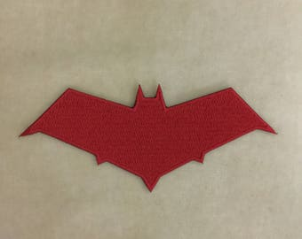 Red Hood Super Hero Logo Iron On Patch