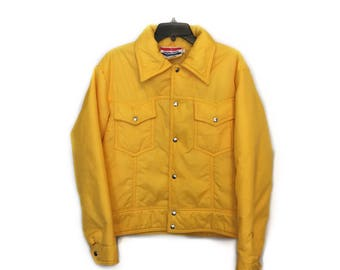 Vintage 1980s White Stag Jacket - Solid Yellow - Size Medium (Men's)