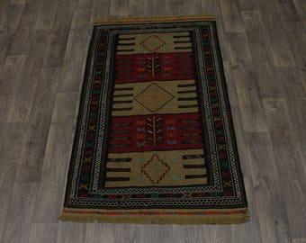 Rare Tribal Original Hand Woven Sumak Wool Persian Area Rug Oriental Carpet 4X6