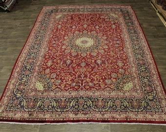 Stunning S Antique Handmade Kashmar Mashad Persian Rug Oriental Area Carpet 9X13