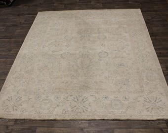 Fantastic Unique Muted Oushak Pakistan Pure Wool Rug Area Oriental Carpet 9X10