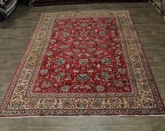 Wonderful Floral Allover Antique Tabriz Persia Rug Oriental Area Carpet 8ʹ5X11ʹ6