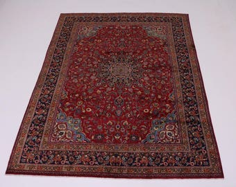 Lovely S Antique Hand Knotted Sabzevar Persian Rug Oriental Area Carpet 10X13