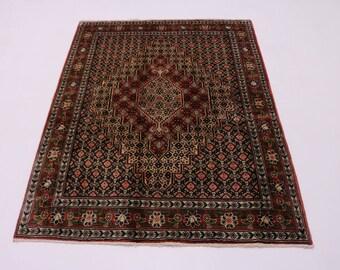 Enchanting Rare Handmade Medium Bidjar Persian Rug Oriental Area Carpet 4X5'5