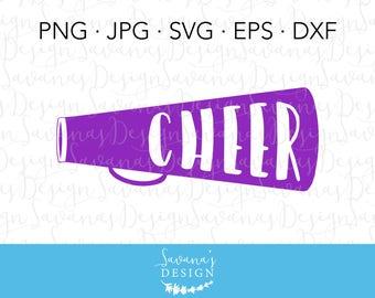 Cheer Megaphone SVG, Megaphone SVG, Cheerleading Megaphone, Bullhorn SVG, Cheer Svg, Svg Cheer, Cheer Svg Files, Cheerleading Decals