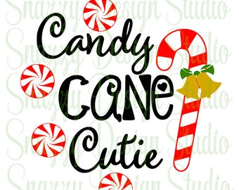 Candy Cane Cutie SVG ~ Holiday SVG ~ Christmas SVG ~ Cutting files, Cricut, htv, Heat Transfer Vinyl