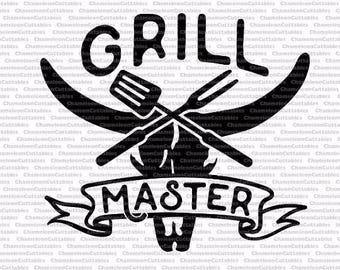 grill master, SVG, eps, png, jpeg, dxf, vector, cut file, digital download