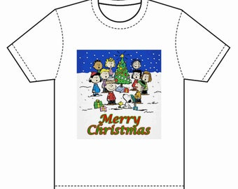 INSTANT DOWNLOAD Merry Christmas Charlie Brown Instant Download & Print T-Shirt Transfer