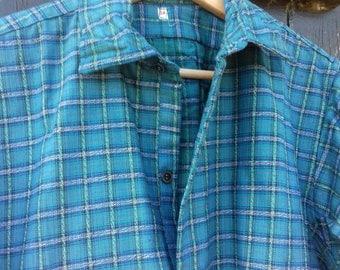 Vintage French Farmers check Chore Shirt