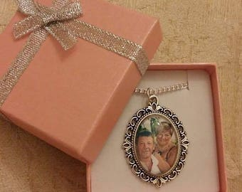 Personal photo necklace