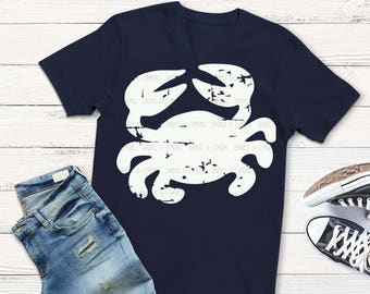 Crab svg, distressed crab svg, monogram svg, distressed svg, dxf, eps, png, beach svg, lobster, files for svgs, iron on decal, preppy svg
